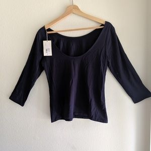 A new day LS Navy Crew Top